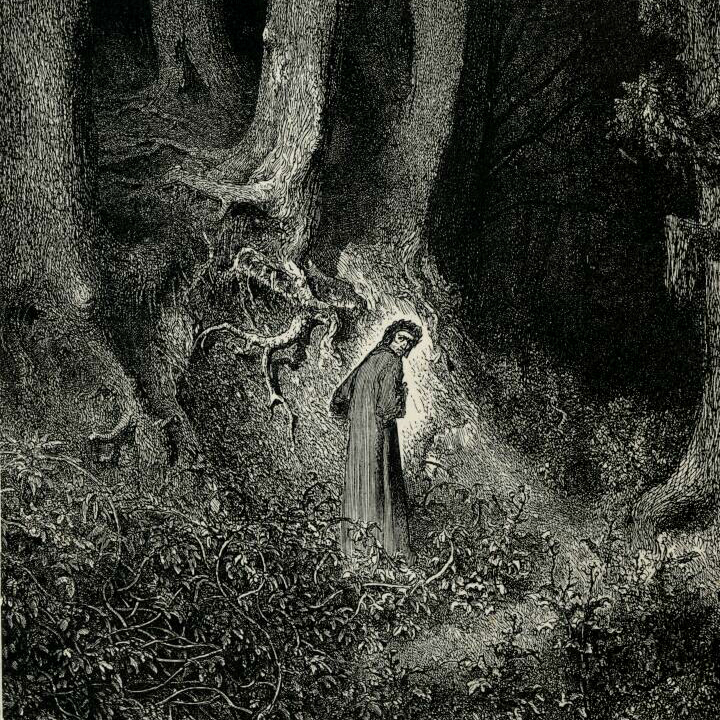 Dante in the Dark Wood of Error, Gustav Dore