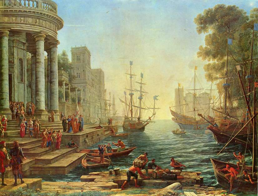 Seaport with the Embarkation of St Ursula Claude Lorrain