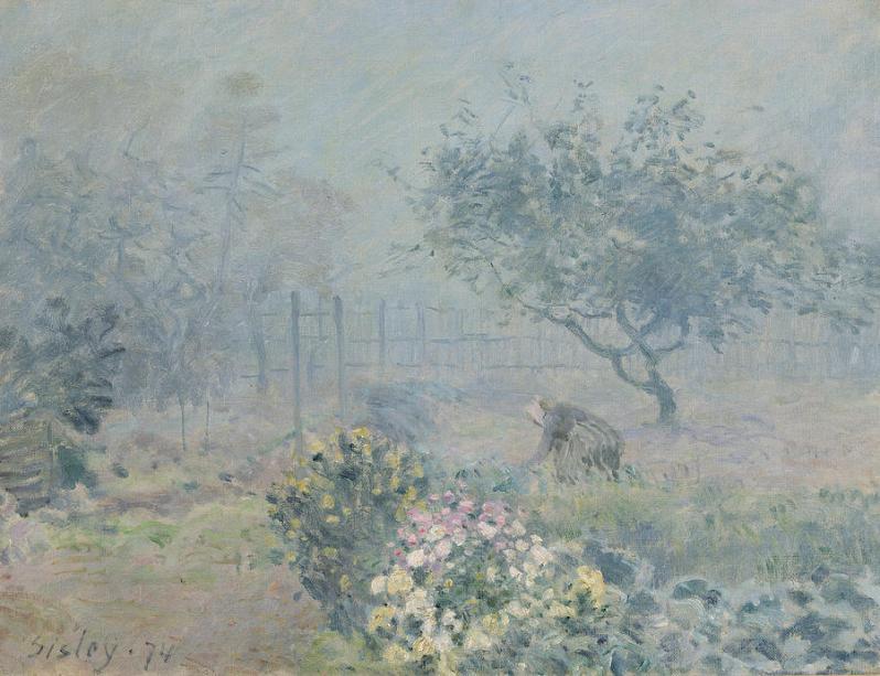 the-fog-voisins-1874-oil-on-canvas-alfred-sisley