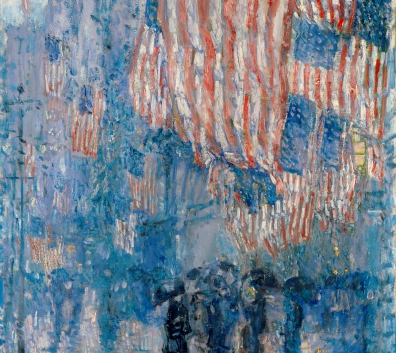 The_Avenue_in_the_Rain_Frederick_Childe_Hassam_1917