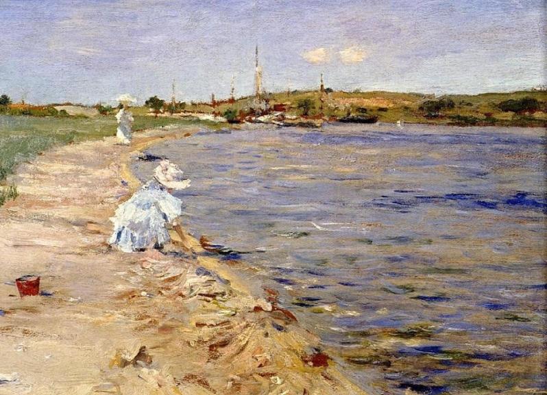 Beach-Scene-Morning-At-Canoe-Place